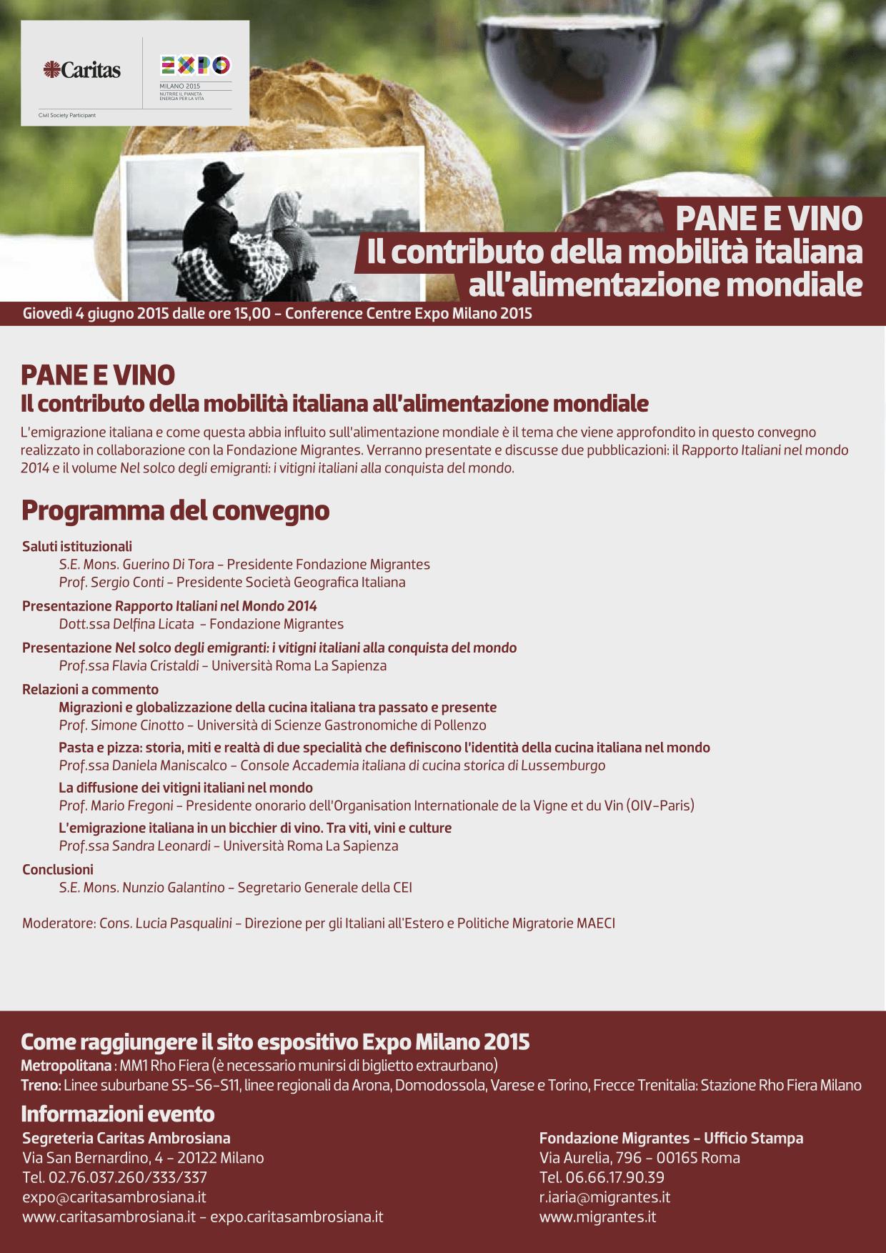 Emigrazione e vino in realtà aumentata a EXPO 2015