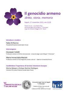 Locandina genocidio armeno 27.11.2015