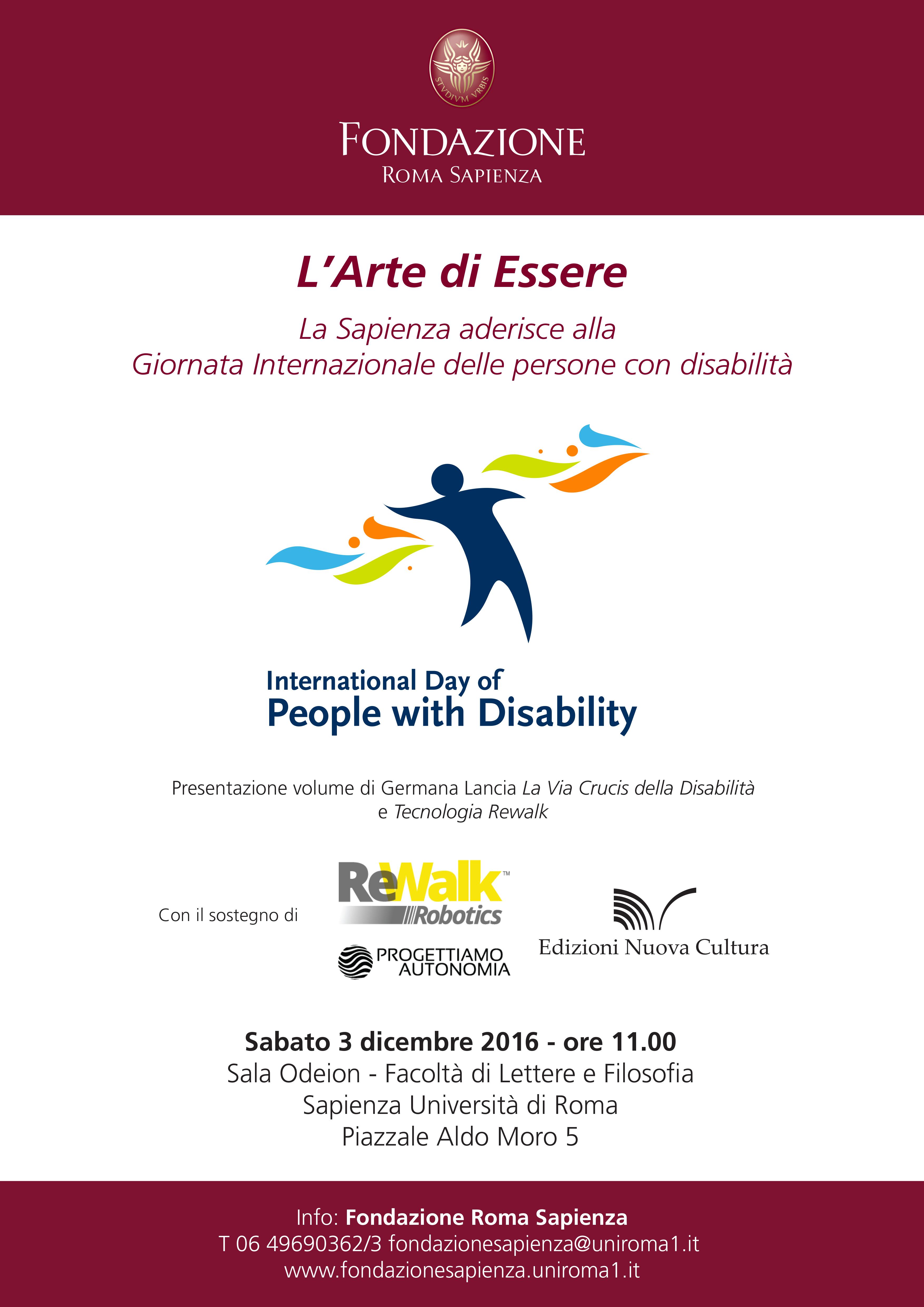 L'Arte di Essere – Giornata internazionale delle persone con disabilità