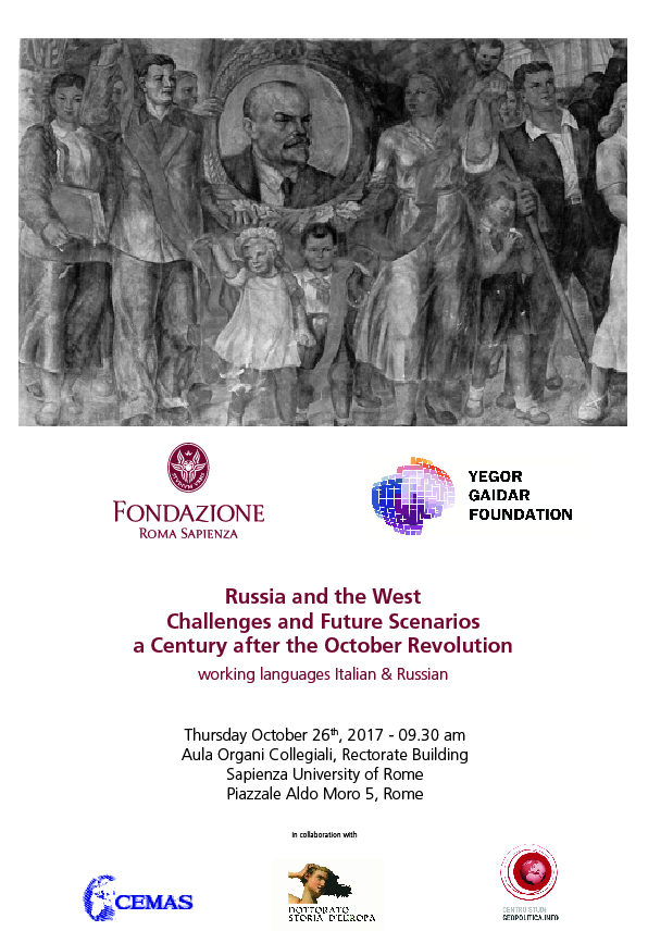 Russia and the West Challenges and Future Scenarios a Century  after the October Revolution