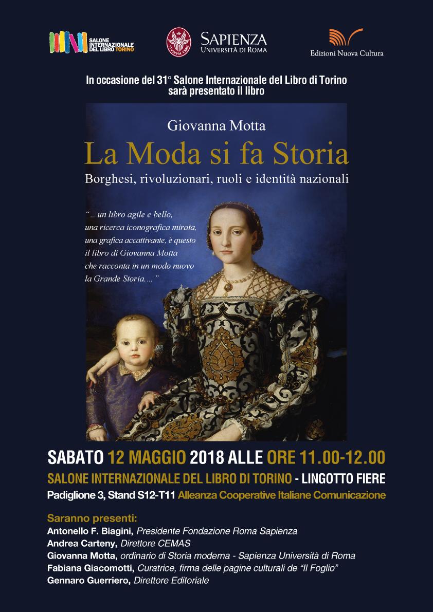 """Presentazione del libro """"La Moda si fa Storia"""" al Salone Internazionale del Libro di Torino"""