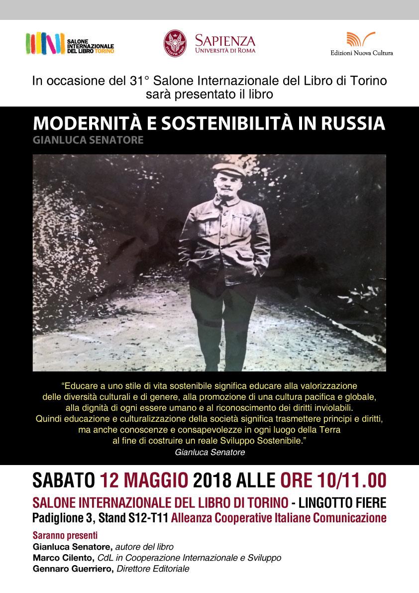 """Presentazione del libro """"Modernità e sostenibilità in Russia"""" al Salone Internazionale del Libro di Torino"""